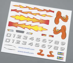 Revell Pinwood Derby Dry Transfer Decal A