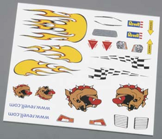 Revell Pinwood Derby Dry Transfer Decal B