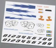 Revell Pinwood Derby Dry Transfer Decal D