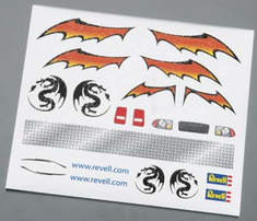 Revell Pinwood Derby Dry Transfer Decal F
