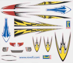 Revell Pinwood Derby Dry Transfer Decal Sheet H