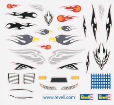 Revell Pinwood Derby PEEL & STICK Decal Sheet E