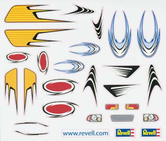 Revell Pinwood Derby PEEL & STICK Decal Sheet I