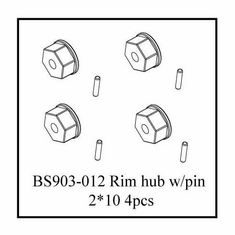 Rim Hub w/ Pin (2*10) 4 PCS (for use with nylon locknuts) ~