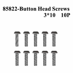 Rounded (Button) Head Screws, 3*10 (10pcs) ~