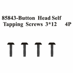 Rounded Head Self Tapping Screws 3*12 4Pcs ~