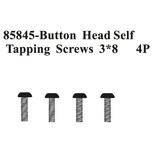 Rounded Head Self Tapping screws 3*8 4Pcs ~