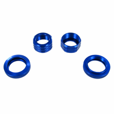 Shock Absorber Caps and Spring Collars, Blue ~
