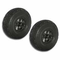 Short Course Wheels and Tires, Black (2pcs)