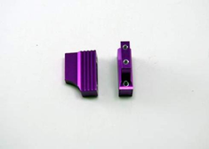Machined aluminum engine mount (2pcs)(purple)(Same as 102205)