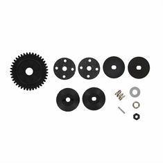 Spur Gear-39T Spring/nylon self-lock nut ~