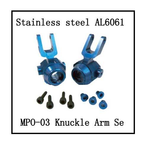 Steering knuckle set, aluminum. (New 4mm Style) Requires BS903-017N for compatibility