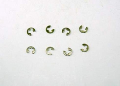 Suspension Arm E-Clips, 4mm (8pcs) ~