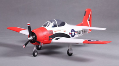 T-28, V2, Red, Plug N Play, 800mm Brushless RC Airplane