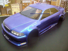 T&E Vertex Ridge JZX100 Toyota Mark II Custom Painted RC Touring Car / RC Drift Car Body 200mm (Painted Body Only)