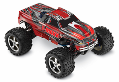 1/10 T-Maxx 3.3 4WD Nitro RC Monster Truck RTR with TSM, Red,45+mph
