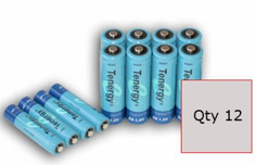 Tenergy NiMH AA 2600mAh Rechargeable Battery (12 Pack) ~