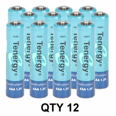 Tenergy NiMH AAA 1000mAh Rechargeable Battery (12 Pack) ~
