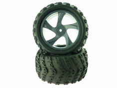 Tire and Rim for Monster Truck (23626B+28662) 2P
