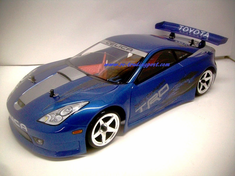 Toyota Celica Redcat Racing EP Brushless RTR Custom Painted Electric RC Street Cars Now With 2.4 GHZ Radio AND 2S Lipo Battery!!!