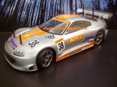 Toyota Supra GT Custom Painted RC Touring Car / RC Drift Car Body 200mm (Painted Body Only)