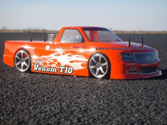 Venom T-10 Custom Painted RC Touring Car / RC Drift Car Body 200mm (Painted Body Only)