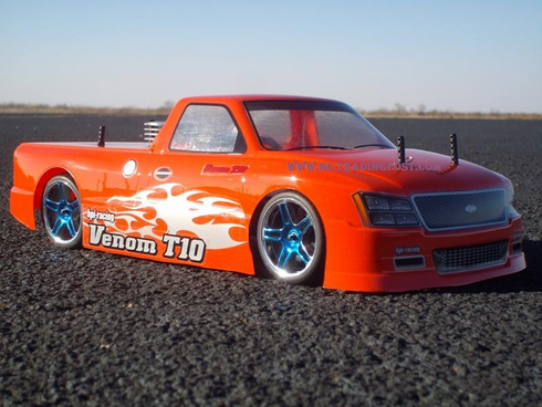 Venom T-10 Redcat Racing EP Brushless RTR Custom Painted Electric RC Street Cars Now With 2.4 GHZ Radio AND 2S Lipo Battery!!!