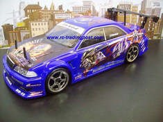 Weld JZX100 Toyota Mark II Custom Painted RC Touring Car / RC Drift Car Body 200mm (Painted Body Only)