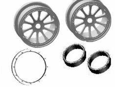 Rear Rims with Bead-Lock Rings