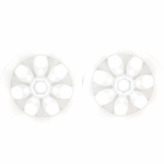 White 7 Spoke Wheels, 2pcs ~