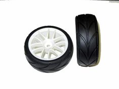 White Road Wheels and Tires, 2pcs