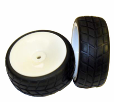 White wheels and tires 2pcs ~