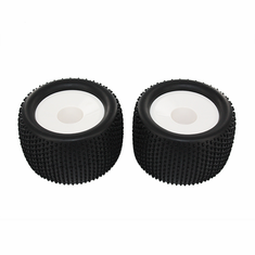 White Wheels and Tires, 2pcs