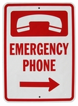 7031 Heavy Duty Aluminum Emergency Phone Sign