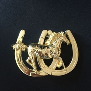 New Gold Color Horse Horseshoe Western Belt Buckle Gurtelschnalle Boucle de ceinture