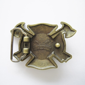 New Vintage Bronze Plated FD Firefighter Belt Buckle Gurtelschnalle Boucle de ceinture BUCKLE-OC010AB