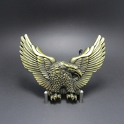 New Antique Bronze Plated American Pride Wild Life Western Eagle Biker Rider Belt Buckle