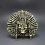 New Vintage Bronze Plated Native Chief Western Belt Buckle Gurtelschnalle Boucle de ceinture