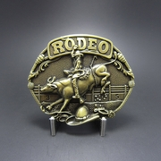 New Vintage Bronze Plated Western Rodeo Race Cowboy Belt Buckle Gurtelschnalle Boucle de ceinture