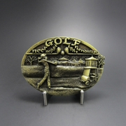 New Original Vintage Bronze Plated Golf Sports Belt Buckle Gurtelschnalle Boucle de ceinture