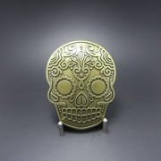 New Vintage Bronze Plated Tattoo Skull Belt Buckle Gurtelschnalle Boucle de ceinture