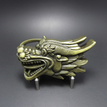 New Vintage Bronze Plated Sculpt Dragon Head Belt Buckle Gurtelschnalle Boucle de ceinture