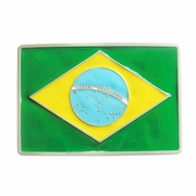 New Vintage Brazil Flag Belt Buckle Gurtelschnalle Boucle de ceinture BUCKLE-FG004