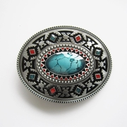 New JEAN'S FRIEND Vintage Classic Enamel Celtic Oval Southwest Belt Buckle