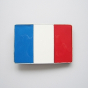 New Vintage Enamel France Flag Belt Buckle Gurtelschnalle Boucle de ceinture BUCKLE-FG002