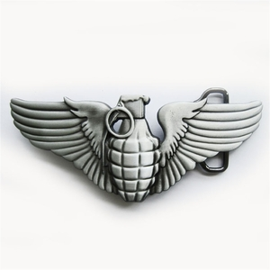 New Vintage Cut Out Grenade W Wings Belt Buckle Gurtelschnalle Boucle de ceinture BUCKLE-GU025