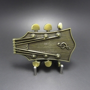New Original Vintage Bronze Plated Guitar Music Belt Buckle Gurtelschnalle Boucle de ceinture