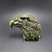 New Original Vintage Bronze Plated Eagle Head Western Belt Buckle