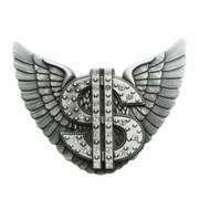 New Vintage Rhinestones Angel Wings US Dollar Lighter Gurtelschnalle Boucle de ceinture