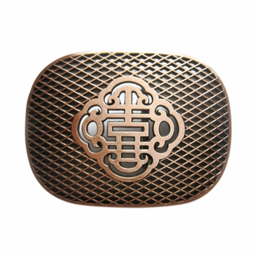 New Vintage Bronze Plated Pewter Reticulate Knot Wedding Belt Buckle